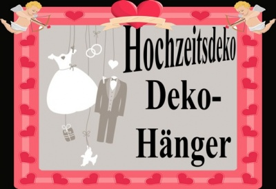 Hochzeits-Deko-Hänger