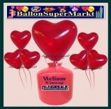Luftballons mit der 2,2 Liter Helium-Einwegflasche