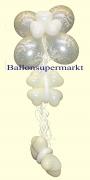 Ballondekoration, Deko-Hänger aus Luftballons, Just Married, Silber, 4 Stück
