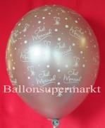Luftballons Hochzeit, Just Married, Silber, 25 Stück