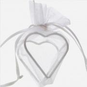 Gastgeschenkeutel zur Hochzeitsdekoration, Organza-Herzen, Weiß