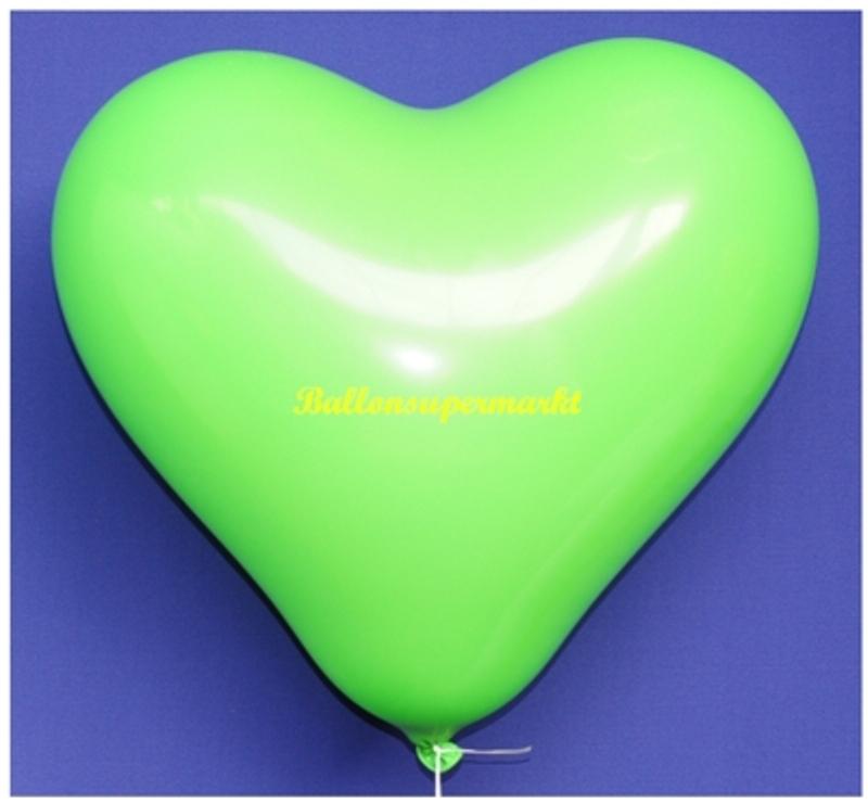 Grune Farbe Feuerwerk : Grüne Herzluftballons, 40 cm, 100 StückLU herzluftballons40cm