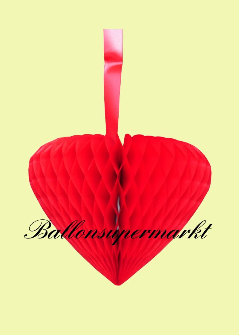 Hochzeit deko h nger rotes wabenherz hochzeitsherz lu hs for Dekoration in rot