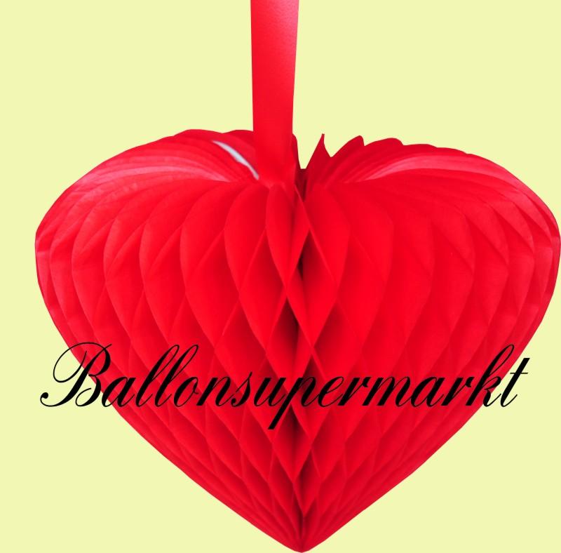 Hochzeit deko h nger gro es wabenherz hochzeitsherz in - Dekoration rot ...