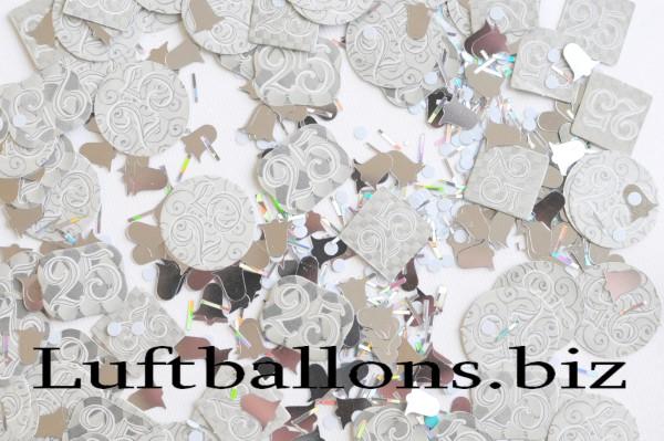 konfetti hochzeit tischdekoration silberne hochzeit 25 lu hs hochzeit tischdeko konfetti. Black Bedroom Furniture Sets. Home Design Ideas