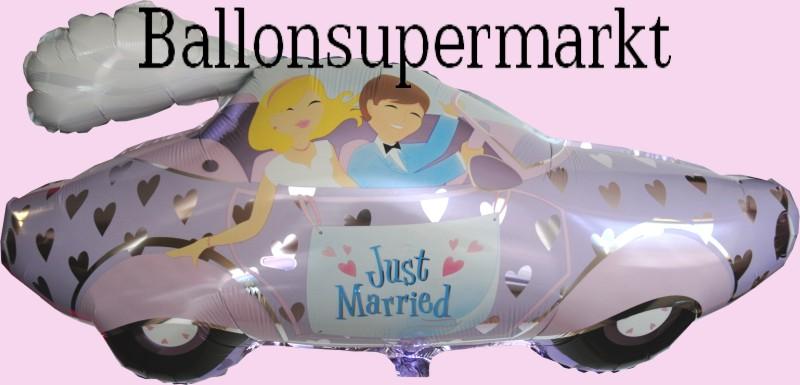 Hochzeits Luftballon Mit Helium Hochzeitspaar Im Auto