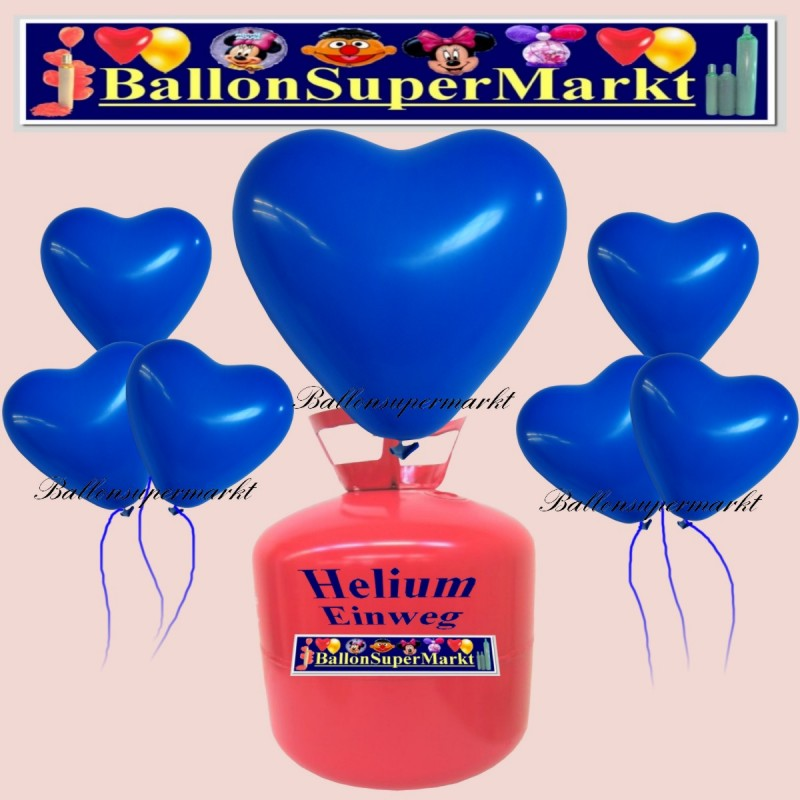 luftballons helium einweg set herzluftballons blau 50 st ck lu hs luftballons helium einweg. Black Bedroom Furniture Sets. Home Design Ideas