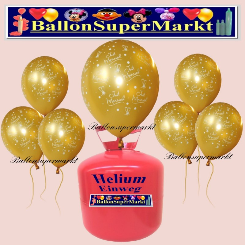 non returnable helium balloons kit balloons in gold just. Black Bedroom Furniture Sets. Home Design Ideas