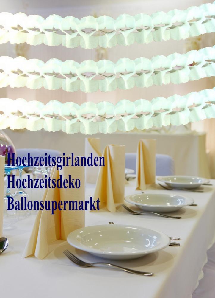 Hochzeitsdekoration Girlanden im Hochzeit-Supermarkt