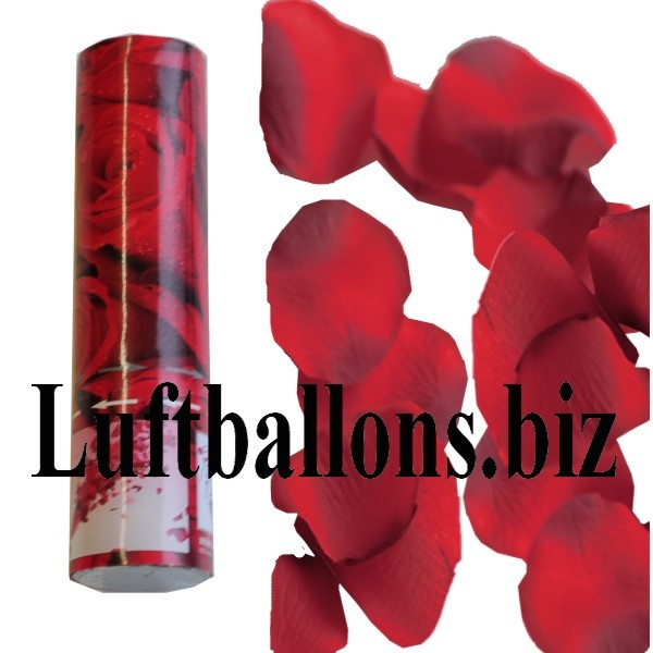 Rosenblätter Konfettikanone, rote Rosenblätter, Rosenblätterregen