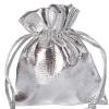 Gastgeschenkeutel zur Hochzeitsdekoration, Organzasäckchen, Silber