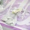 Gastgeschenkeutel zur Hochzeitsdekoration, Organzasäckchen, Silber-Metallic