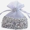 Gastgeschenkeutel zur Hochzeitsdekoration, Organzasäckchen, Silber mit Silberfolie