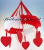 Hochzeitskranz rot-weiss, Hochzeitsdekoration Kranz