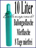 Helium-Mehrweg-Mietflasche mit 10 Liter Ballongas für Hochzeits-Luftballons