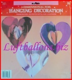 Hanging Dekoration, 3D Herzen,3 Stück