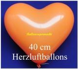 Orangene Herzluftballons, 40 cm, 100 Stück