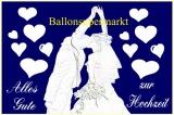 Ballonflugkarten, Glückwünsche zur Hochzeit, 10 Stück
