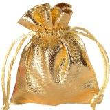 Gastgeschenkeutel zur Hochzeitsdekoration, Organzasäckchen, Gold