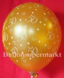 Luftballons Hochzeit, Goldene Hochzeit, 50, 25 Stück