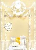 Hochzeit-Deko-Hänger, weiße Blüten und Herzen