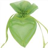 Gastgeschenkeutel zur Hochzeitsdekoration, Organza-Herzen, Grün