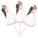 Brautpaar, Partypicker zur Hochzeit, Hochzeitsdekoration