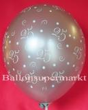 Luftballons Hochzeit, Silberne Hochzeit, 25, 25 Stück