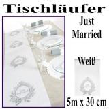 Just Married, Tischläufer zur Hochzeit, Hochzeitsdekoration