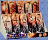 Zahlen-Wunderkerzen, Sprühkerze: 2 Zahlen