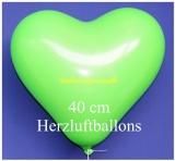 Grüne Herzluftballons, 40 cm, 100 Stück