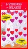Herzdekoration, Herzdeko-Hänger, 6 Stück