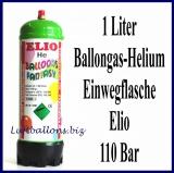 Einwegflasche, 1 Liter Heliumgas, Ballongas