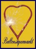 Herz-Wunderkerzen, Sprühkerzen in Herzform, 100 Stück