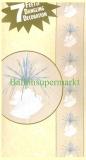 Hochzeit-Deko-Hänger, Kaskade mit Hochzeitsglocken und Silberfolienstreifen
