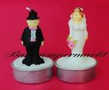 Hochzeit Tischdeko, Hochzeitspaar Zierkerzen, 2 Stück, Braut und Bräutigam Hochzeitskerzen