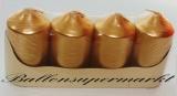 Hochzeit Tischdeko, Hochzeitskerzen in Gold, 4 Stück