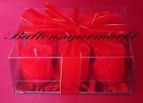 Hochzeit Tischdeko, Hochzeitskerzen, rote Rosen Zierkerzen, 9 Stück