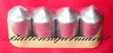 Hochzeit Tischdeko, Hochzeitskerzen in Silber, 4 Stück