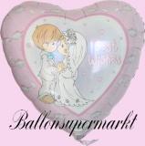 Hochzeits-Luftballon mit Helium, Best Wishes, Hochzeitsglückwünsche und Hochzeitsgeschenk