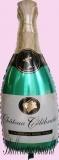 Hochzeits-Luftballon mit Helium, Champagnerflasche, Hochzeitsglückwünsche und Hochzeitsgeschenk
