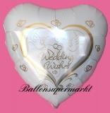 Hochzeits-Luftballon mit Helium, Wedding Wishes, Hochzeitstauben, Hochzeitsglückwünsche und Hochzeitsgeschenk