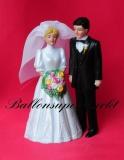 Hochzeitspaar, Tischdekoration zur Hochzeit 04