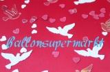 Konfetti Hochzeit, Tischdekoration, Hochzeitstauben mit Herzen