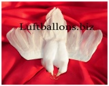 Taubenpaar mit Hochzeitsringen, Hochzeitsdeko