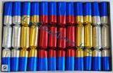 Knallbonbons-Sortiment, Silber-Gold-Rot, 12 Stück, 18 cm