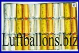 Knallbonbons-Sortiment, Silber-Gold, 12 Stück, 18 cm