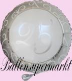 Hochzeits-Luftballon mit Helium, 25 Silberhochzeit, Hochzeitsglückwünsche und Hochzeitsgeschenk