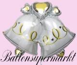 Hochzeits-Luftballon mit Helium, Hochzeitsglocken, Hochzeitsglückwünsche und Hochzeitsgeschenk