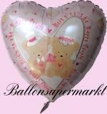 Hochzeits-Luftballon mit Helium, Hochzeitsbärchen, Hochzeitsglückwünsche und Hochzeitsgeschenk
